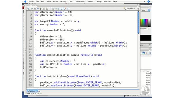 Using math to calculate the angle of a bounce: ActionScript 3.0 Projects: Game Development