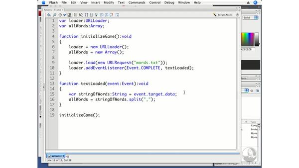 Creating an array of words: ActionScript 3.0 Projects: Game Development