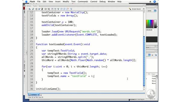 Placing letters in individual textfields: ActionScript 3.0 Projects: Game Development