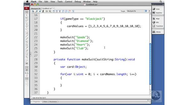 Creating the cards: ActionScript 3.0 Projects: Game Development