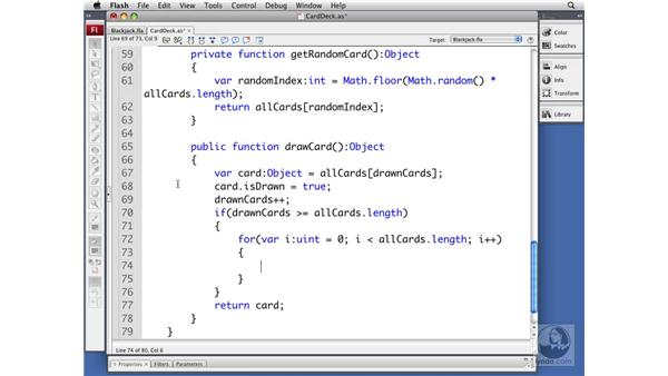 Drawing a card: ActionScript 3.0 Projects: Game Development