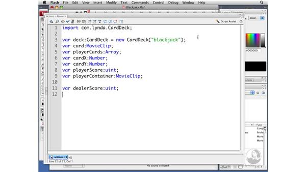 Creating the game variables: ActionScript 3.0 Projects: Game Development