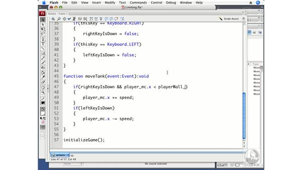 Limiting tank movement: ActionScript 3.0 Projects: Game Development