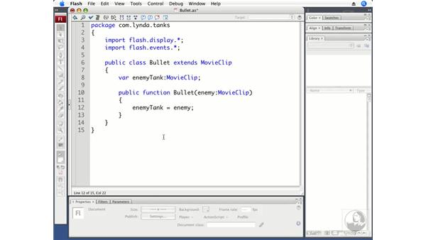 Creating the Bullet class: ActionScript 3.0 Projects: Game Development