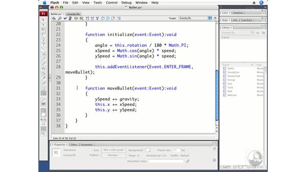 Creating gravity: ActionScript 3.0 Projects: Game Development