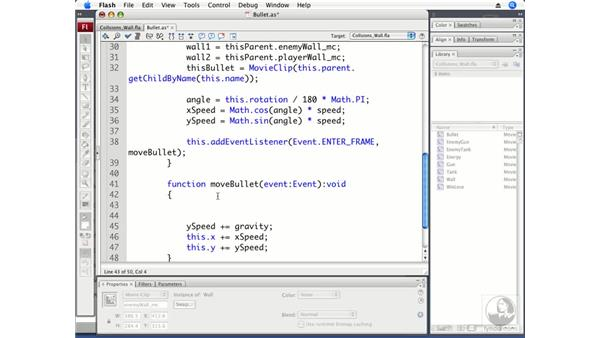 Detecting collisions with walls: ActionScript 3.0 Projects: Game Development