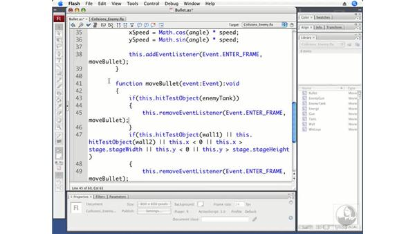 Detecting collisions with the enemy: ActionScript 3.0 Projects: Game Development
