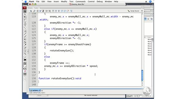 Making the enemy aim: ActionScript 3.0 Projects: Game Development