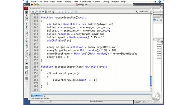 Controlling the energy bars: ActionScript 3.0 Projects: Game Development