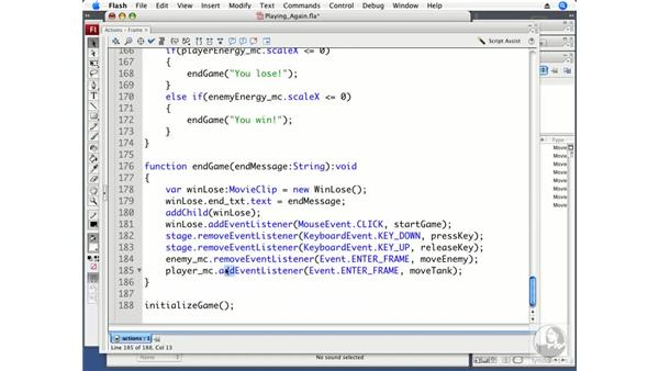 Playing the game again: ActionScript 3.0 Projects: Game Development