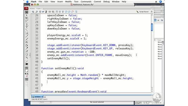 Adding additional features: ActionScript 3.0 Projects: Game Development
