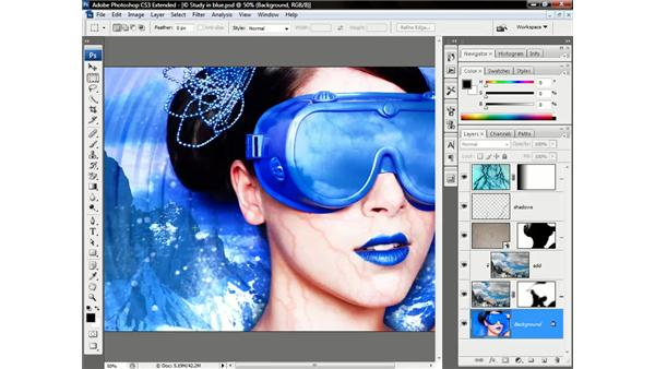 Adjusting the appearance of clipped layers: Photoshop CS3 Channels & Masks: Advanced Techniques