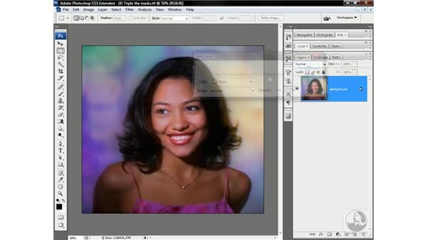 Moving layers and masks between images: Photoshop CS3 Channels & Masks: Advanced Techniques