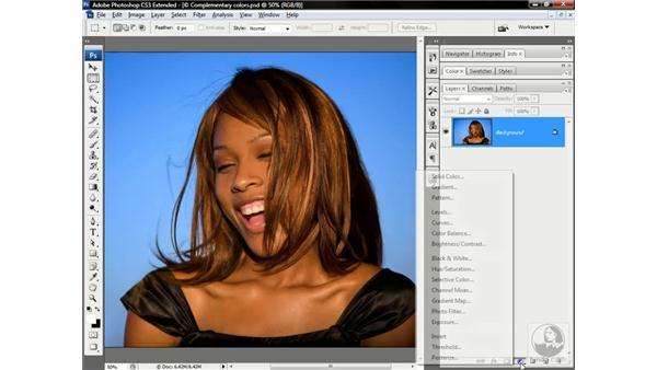 Masking an adjustment layer: Photoshop CS3 Channels & Masks: Advanced Techniques