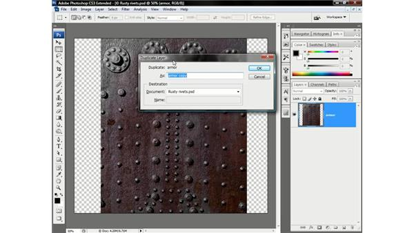 Mapping a texture onto an image: Photoshop CS3 Channels & Masks: Advanced Techniques