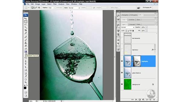 Masking the glass: Photoshop CS3 Channels & Masks: Advanced Techniques