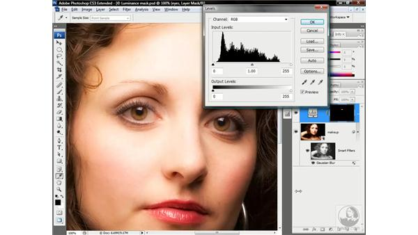 Brightening and neutralizing the eyes: Photoshop CS3 Channels & Masks: Advanced Techniques