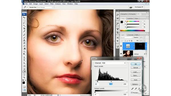 Adjusting a nondestructive composition: Photoshop CS3 Channels & Masks: Advanced Techniques