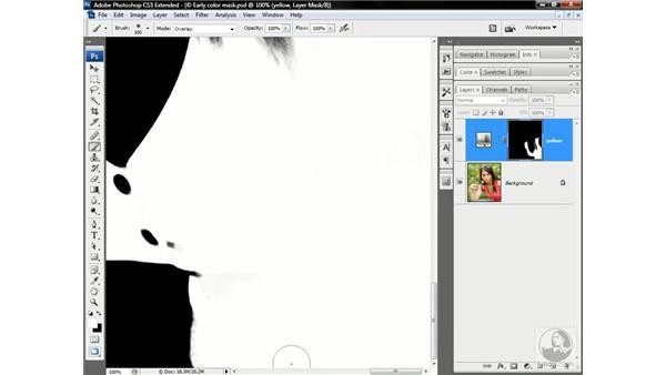 Refining the color mask: Photoshop CS3 Channels & Masks: Advanced Techniques