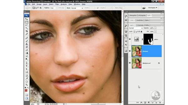 Sharpening with a High Pass layer: Photoshop CS3 Channels & Masks: Advanced Techniques
