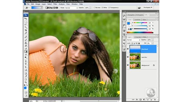 The perfect depth-of-field effect: Photoshop CS3 Channels & Masks: Advanced Techniques