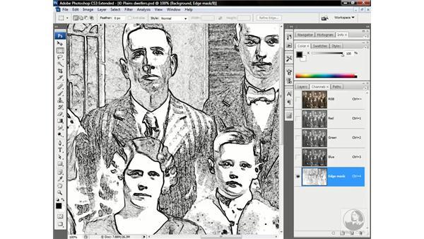 Creating an edge mask: Photoshop CS3 Channels & Masks: Advanced Techniques
