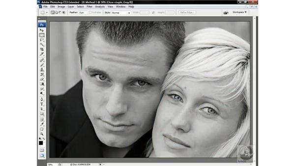 Three ways to gray: Photoshop CS3 Channels & Masks: Advanced Techniques