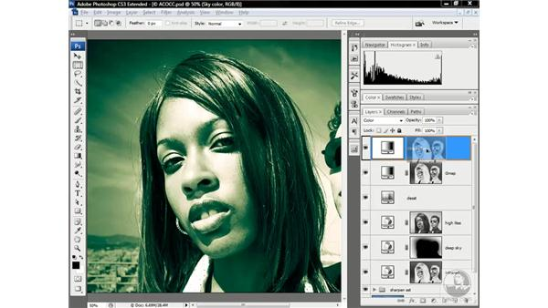 Creating an opposing colorization scheme: Photoshop CS3 Channels & Masks: Advanced Techniques