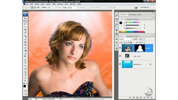 Brushing away color fringing: Photoshop CS3 Channels & Masks: Advanced Techniques