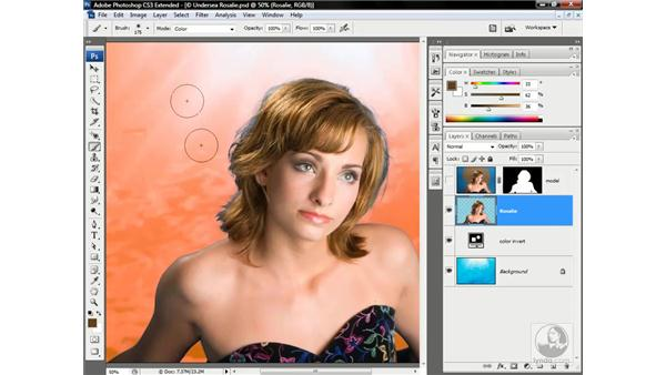Locking the transparency of a layer: Photoshop CS3 Channels & Masks: Advanced Techniques