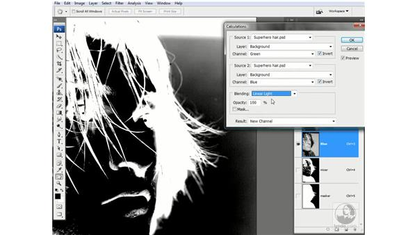 The Add mode in action: Photoshop CS3 Channels & Masks: Advanced Techniques