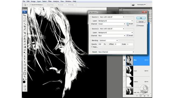 The Subtract mode in action: Photoshop CS3 Channels & Masks: Advanced Techniques