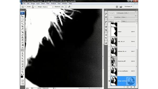 Dodge and Burn in action: Photoshop CS3 Channels & Masks: Advanced Techniques