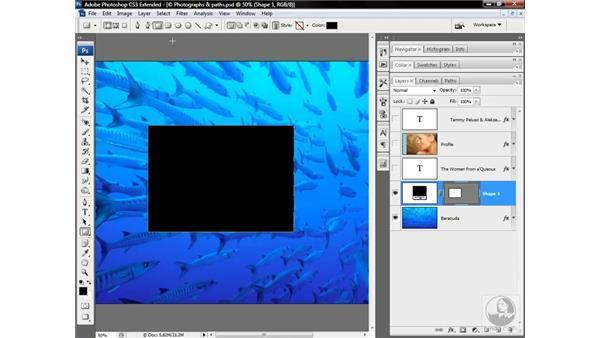 How to make a path: Photoshop CS3 Channels & Masks: Advanced Techniques
