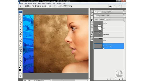 Corner points and freeform polygons: Photoshop CS3 Channels & Masks: Advanced Techniques