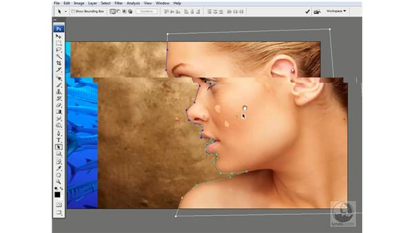Editing paths with the arrow tools: Photoshop CS3 Channels & Masks: Advanced Techniques