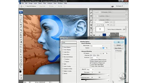 Combining paths to make a layer mask: Photoshop CS3 Channels & Masks: Advanced Techniques