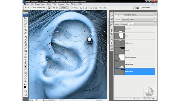 Mixing layer and vector masks: Photoshop CS3 Channels & Masks: Advanced Techniques