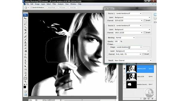 Merging the best of two Levels iterations: Photoshop CS3 Channels & Masks: Advanced Techniques