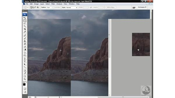 Modifying a layer mask in 32-bit: Photoshop CS3 Channels & Masks: Advanced Techniques