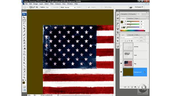 Creating a rustic edge effect: Photoshop CS3 Channels & Masks: Advanced Techniques