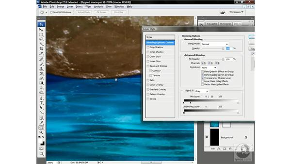 Dipping the moon into the water: Photoshop CS3 Channels & Masks: Advanced Techniques