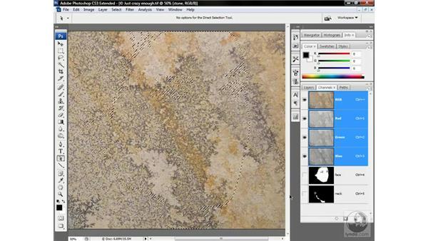 Turning flesh into stone: Photoshop CS3 Channels & Masks: Advanced Techniques