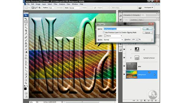 Wrapping the background around the text: Photoshop CS3 Channels & Masks: Advanced Techniques