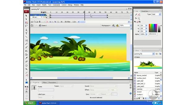 Pan and zoom camera effects: Flash CS3 Animation Secrets
