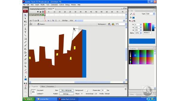 Seamless looping animations: Flash CS3 Animation Secrets