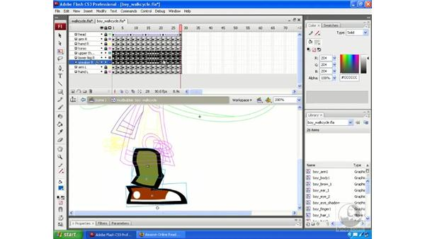 Making your animations walk with Walk Cycle: Flash CS3 Animation Secrets