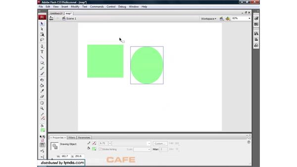 Object drawing: Flash CS3 for Designers