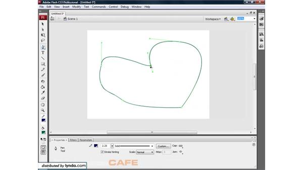 The Pen tool: Flash CS3 for Designers