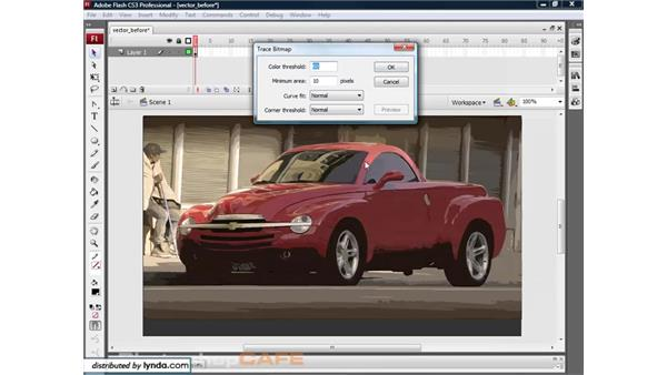 Trace Bitmap: Flash CS3 for Designers